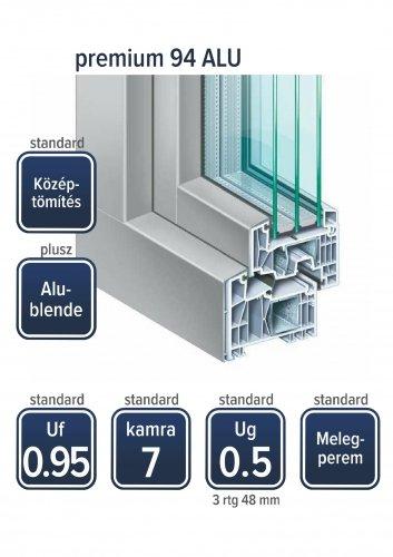 Kömmerling Premium 94 ALU ablak